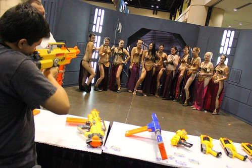Slave Leias in NERF shooting - Star Wars Celebration VI