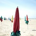 Sun umbrellas at Deauville's beach