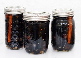 Cinnamon, Star Anise & Vanilla Pickled Black Beauty Grapes