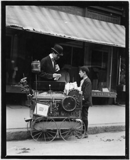 Joseph Severio, peanut vender, 11 years of age. Been pushing cart 2 years, May 1910