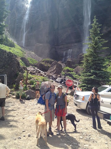 Base of bridal veil falls.