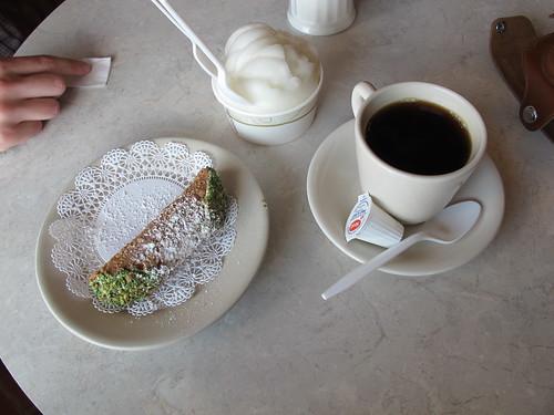 Cannoli and Coffee and Lemon Ice
