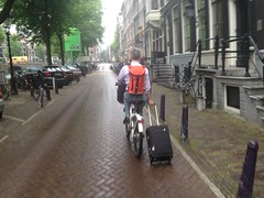 Biking to Centraal Station
