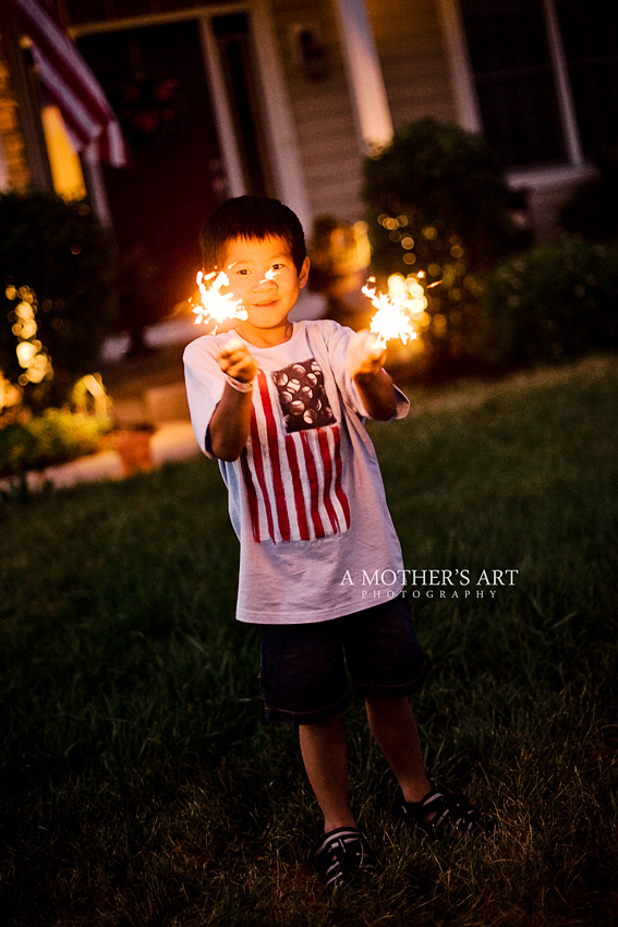 July 4th sparklers 1