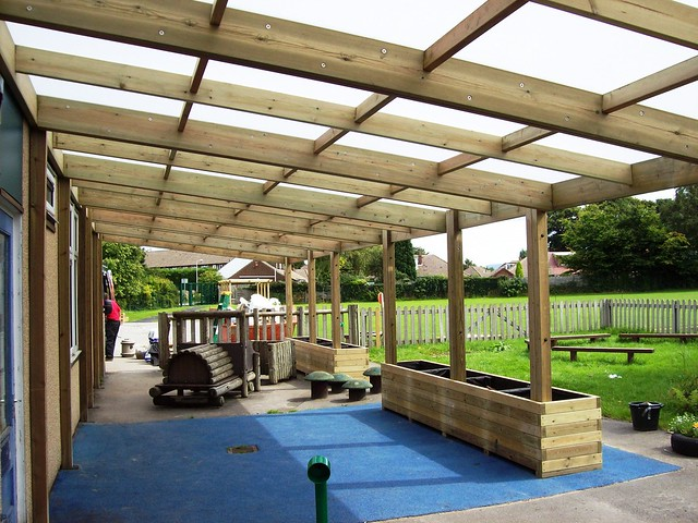 Outdoor Classroom Wooden Shelter Canopy Kew Wooden Lean To