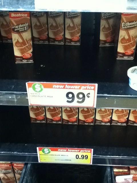 Chocolate milk 1L 99c