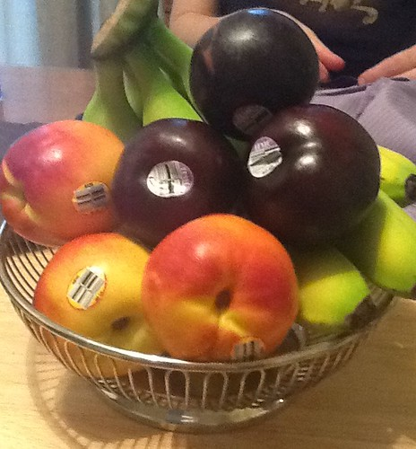With all this fruit on table I feel like I should draw a still life or something.
