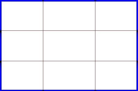 井字線示意圖(橫式加邊框)