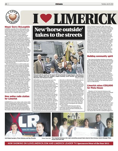 I Love Limerick Chronicle Column 10 July 2012 Page 1