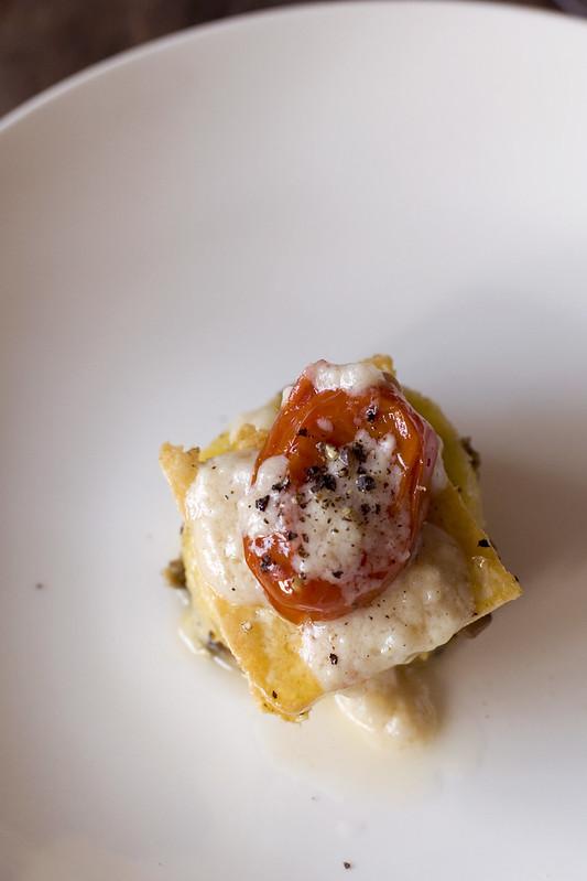 roasted tomato polenta benny