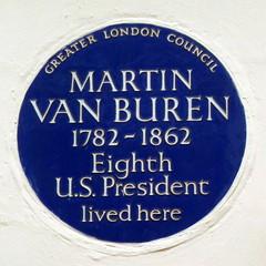 Photo of Martin Van Buren blue plaque