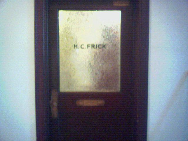 H.C. Frick's door