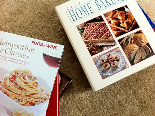 Cookbooks on Floor