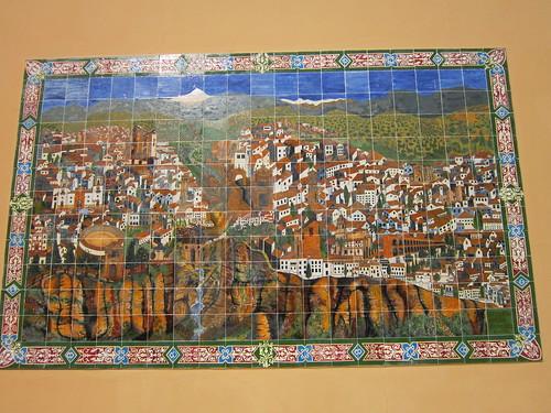 ロンダの街の絵タイル by Poran111