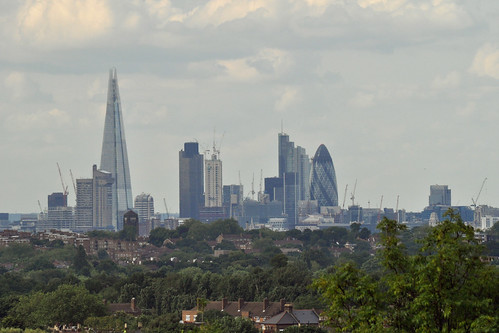 Shard and City skyline from Norwood Park