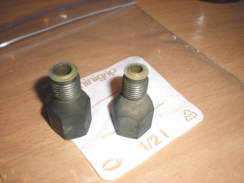 Original TBI fuel line fitting adapters