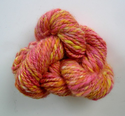 Handspun - grapefruit sunrise
