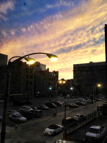 8:36pm nice sunset in downtown St. Louis by marshallhaas