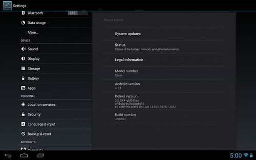 android4.1.1 XOOM WiFi