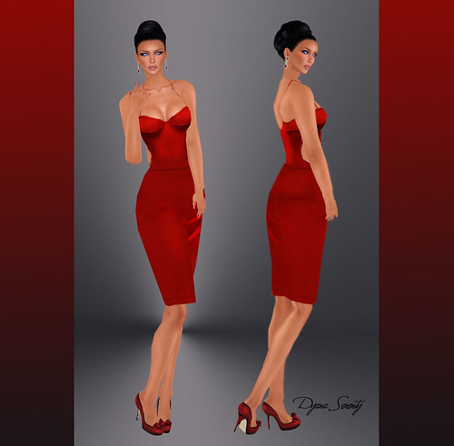 Paris METRO Couture Red Alert Spandex Dress by Dyana Serenity