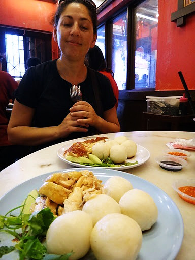 Tanya with Melakan Chicken Rice Balls