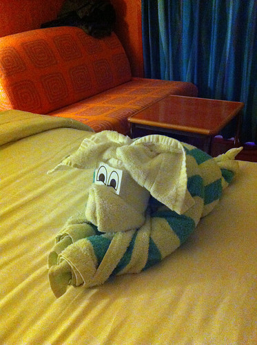 Norwegian Pearl - Striped Towel Animal