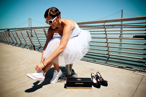 Julie Michelle Photography San Francisco Wedding Bay Bridge Converse