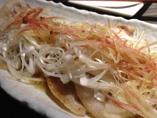 豚バラと香味野菜のレモンソース@ENZAN 新宿店
