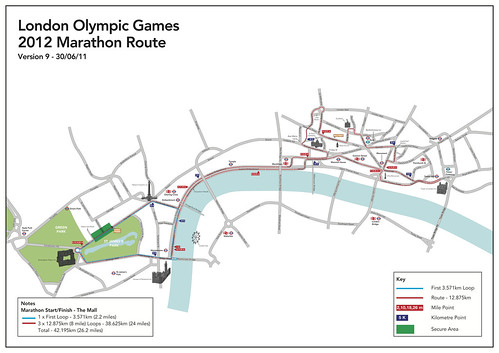 Ruta Maratón Olímpico Londres 2012