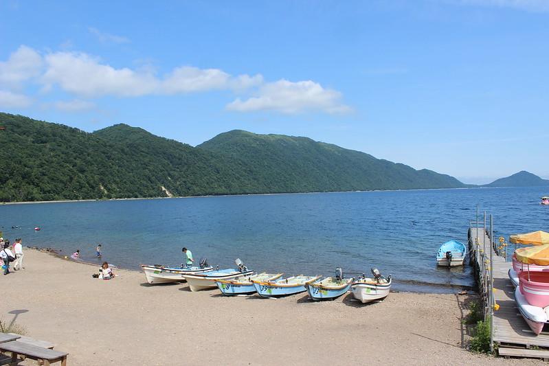 支笏湖に到着