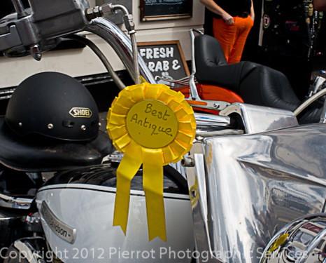Harley Davidsons at Sheringham Carnival