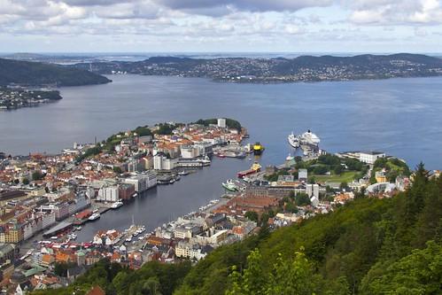 32 Vistas de Bergen desde el Monte Floyen