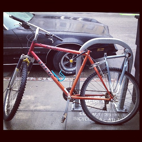 Morning bike hack rack