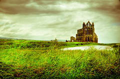 [Free Images] Architecture, Archaeological Sites, Religious Buildings, Whitby Abbey, Churchs / Catedrals, Landscape - United Kingdom ID:201208142000