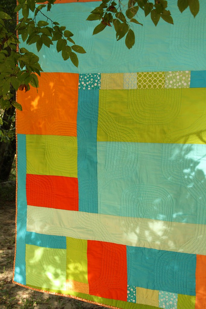 Mod pop closeup of quilting