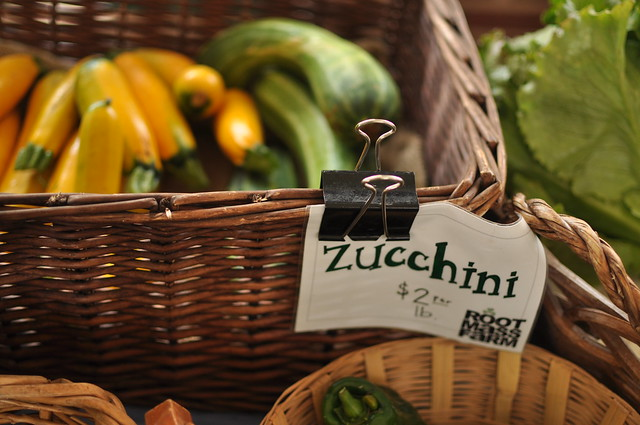 zucchini at Root Mass Farm stand