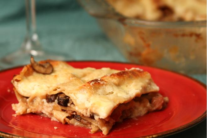 mushroom prosciutto lasagna 11