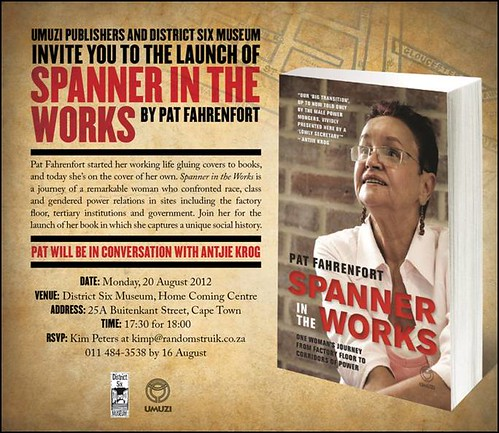 Launch invite - Spanner in the Works by Pat Fahrenfort