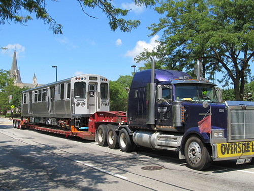 New CTA 5000 Series Rail Cars Being Delivered to The Skokie Shops