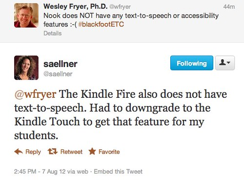 Twitter / saellner: @wfryer The Kindle Fire also ...