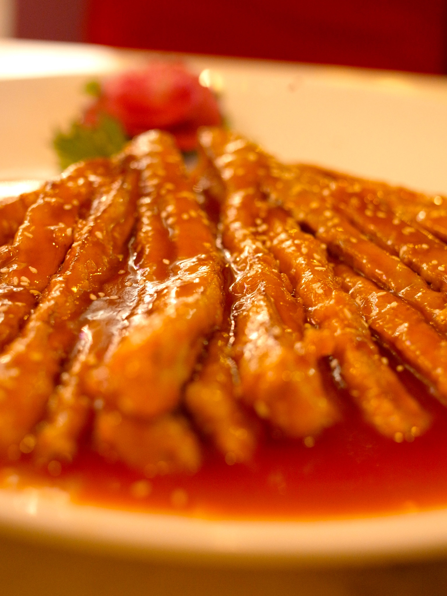 Sweet and sour eggplant strips | Flickr - Photo Sharing!