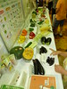 野菜・果物の展示