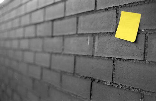 City post-its: Wall