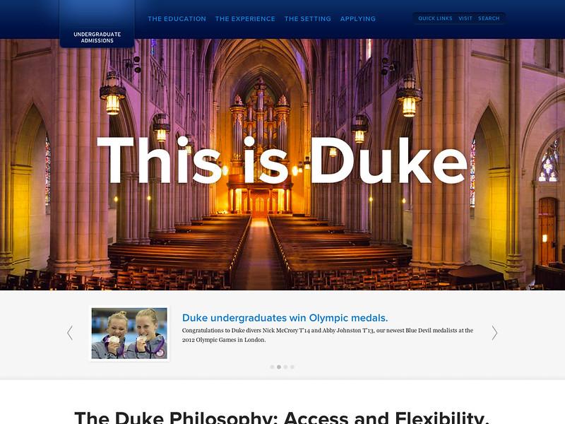 Duke Admissions