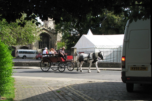Horse drawn carriage in York by Helen in Wales