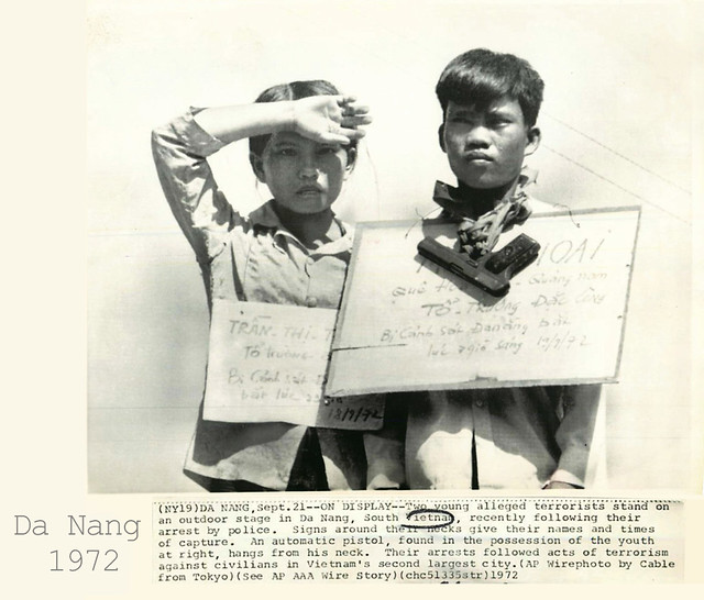 Da Nang 1972 - Vietnamese Child Terrorists on Display in Da Nang