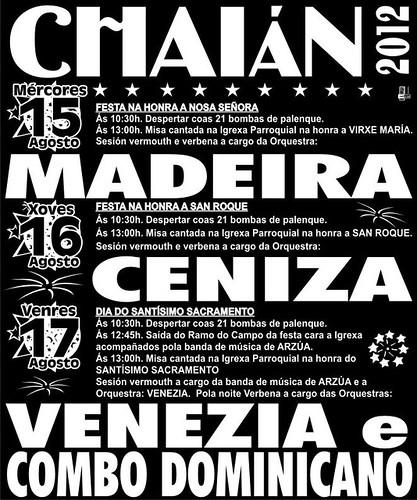 Trazo 2012 - Festas patronais en Chaián - cartel