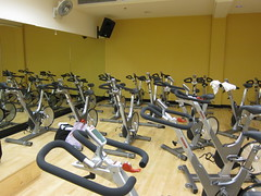 room, indoor cycling, gym,