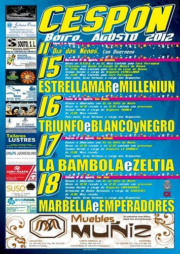Boiro 2012 - Festas en Cespón - cartel
