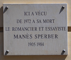 Photo of Manès Sperber grey plaque